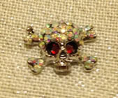 Petite Sparkle Skull and Cross Bones