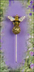 Sparkle Bee Garden Pin